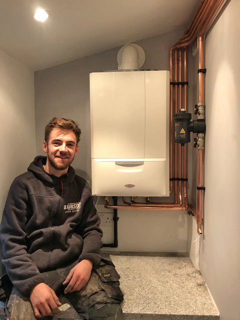 NEW ALPHA COMBI-BOILER FREES-UP  KITCHEN SPACE IN DERBYSHIRE HOME