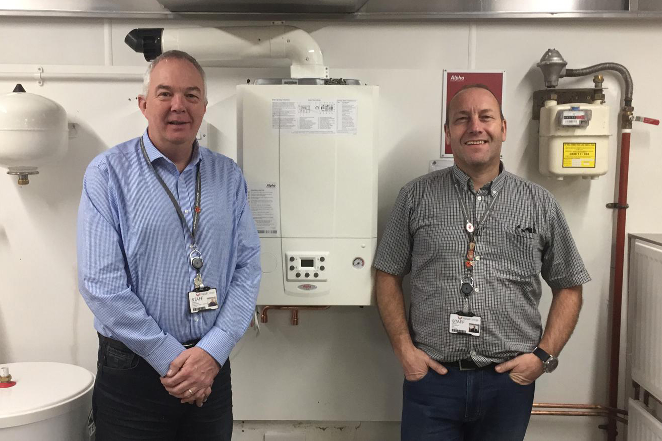 ALPHA BOILERS KEEP THE HEAT FOR WALSALL COLLEGE